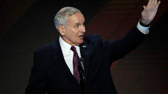 Minnesota Governor Mark Dayton speaks on the final night of the Democratic National Convention in Philadelphia, Pennsylvania, U.S. July 28, 2016. REUTERS/Mike Segar