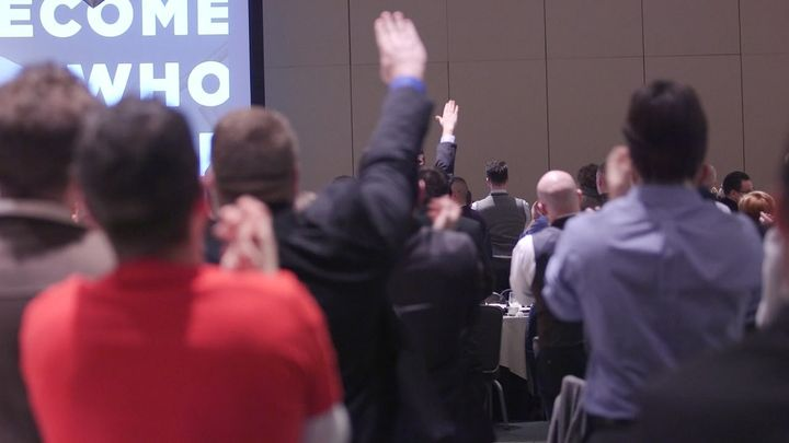 Alt-Right leaders give a Nazi salute at the National Policy Institute conference