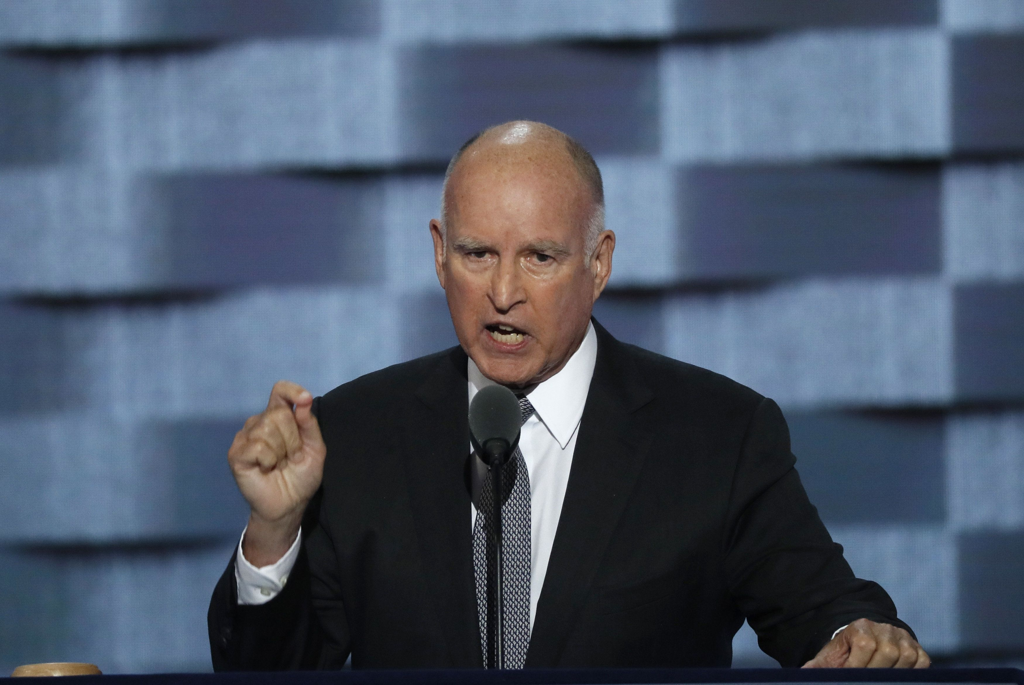 California Gov. Jerry Brown (D) rebuked President Donald Trump in his State of the State address.