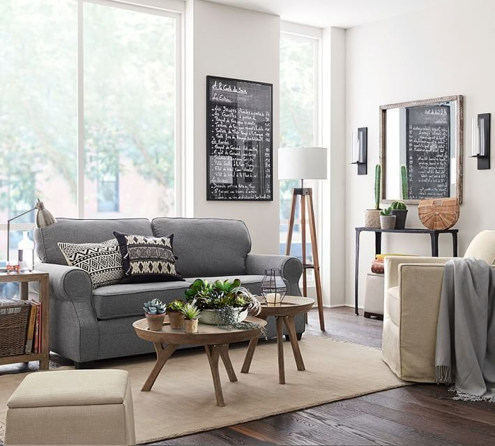 pottery barns small spaces collection is great news for apartment dwellers huffpost - Pottery Barn Living Room