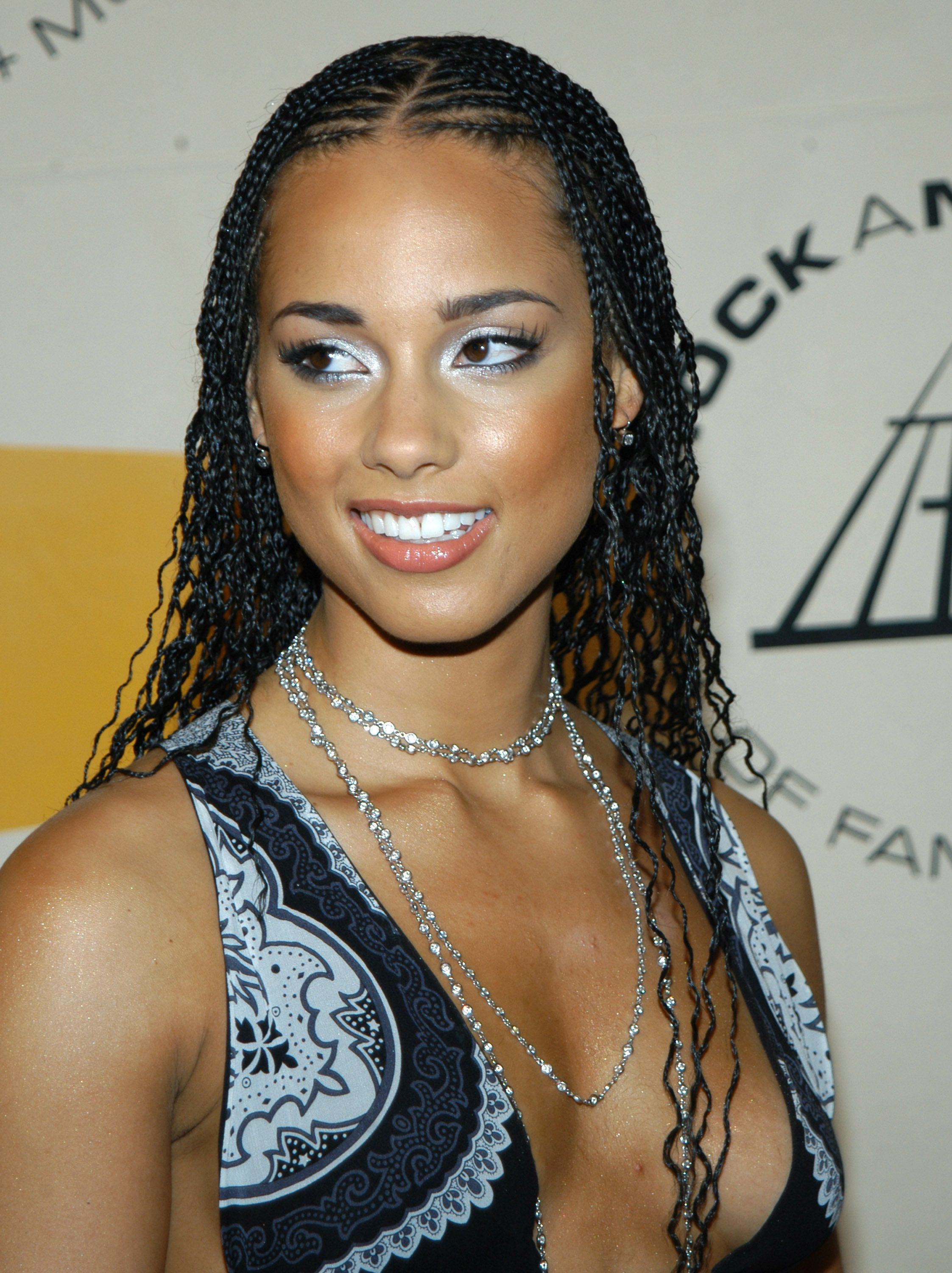 Alicia Keys during The 19th Annual Rock and Roll Hall of Fame Induction Ceremony - Arrivals at Waldorf Astoria in New York City, New York, United States. (Photo by Stephen Lovekin/FilmMagic)