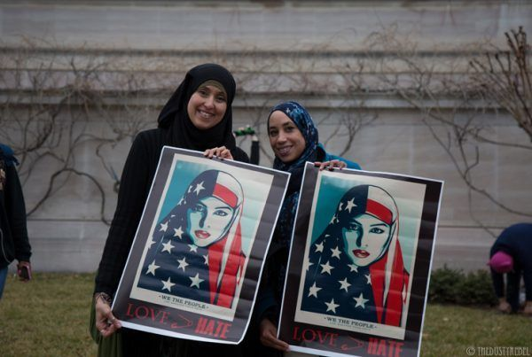 "One of Shepard Fairey's newest posters from the ""We the People"" campaign proved inspirational to many in the Muslim community"