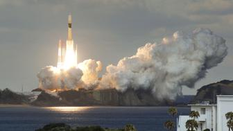 H-IIA rocket carrying Japan's first military communications satellite lifts off from Tanegashima space port on Tanegashima Island, southern Japan, in this photo taken by Kyodo January 24, 2017. Mandatory credit Kyodo/via REUTERS ATTENTION EDITORS - THIS IMAGE WAS PROVIDED BY A THIRD PARTY. EDITORIAL USE ONLY. MANDATORY CREDIT. JAPAN OUT. NO COMMERCIAL OR EDITORIAL SALES IN JAPAN.     TPX IMAGES OF THE DAY