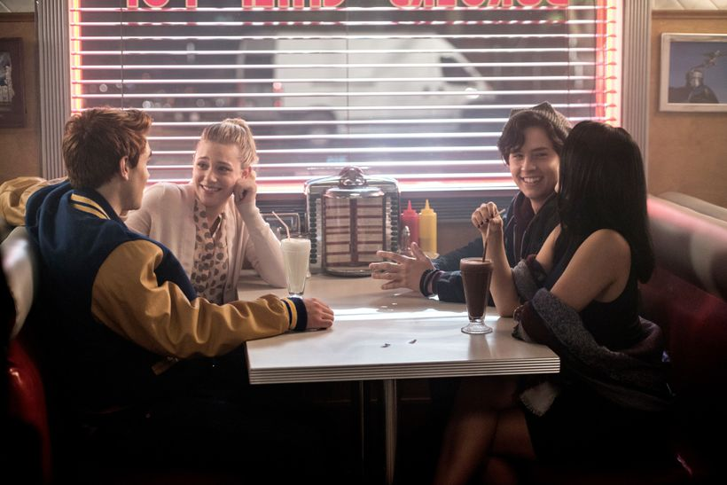 The gang's all here: Archie, Betty, Jughead, Veronica.