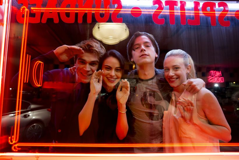 At least Pop's is still there. Archie, Veronica, Jughead and Betty.