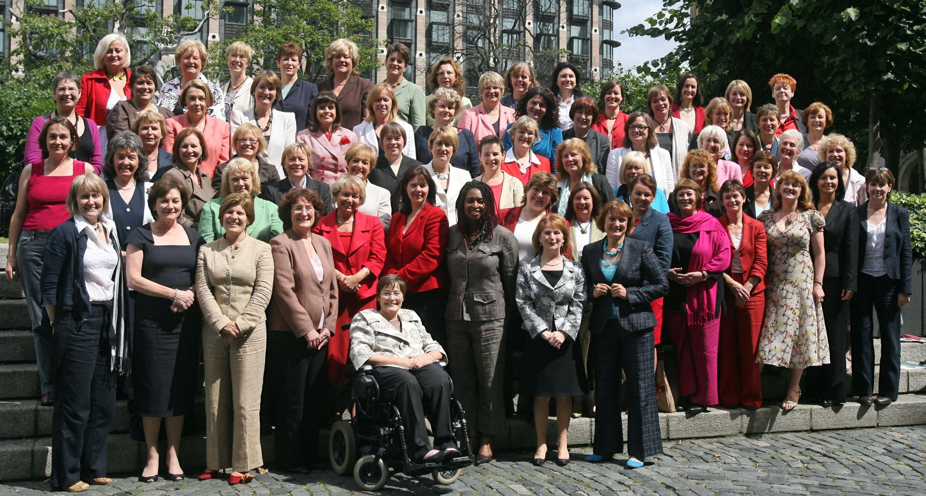 A historic group picture of some of Labour's women MP's outside