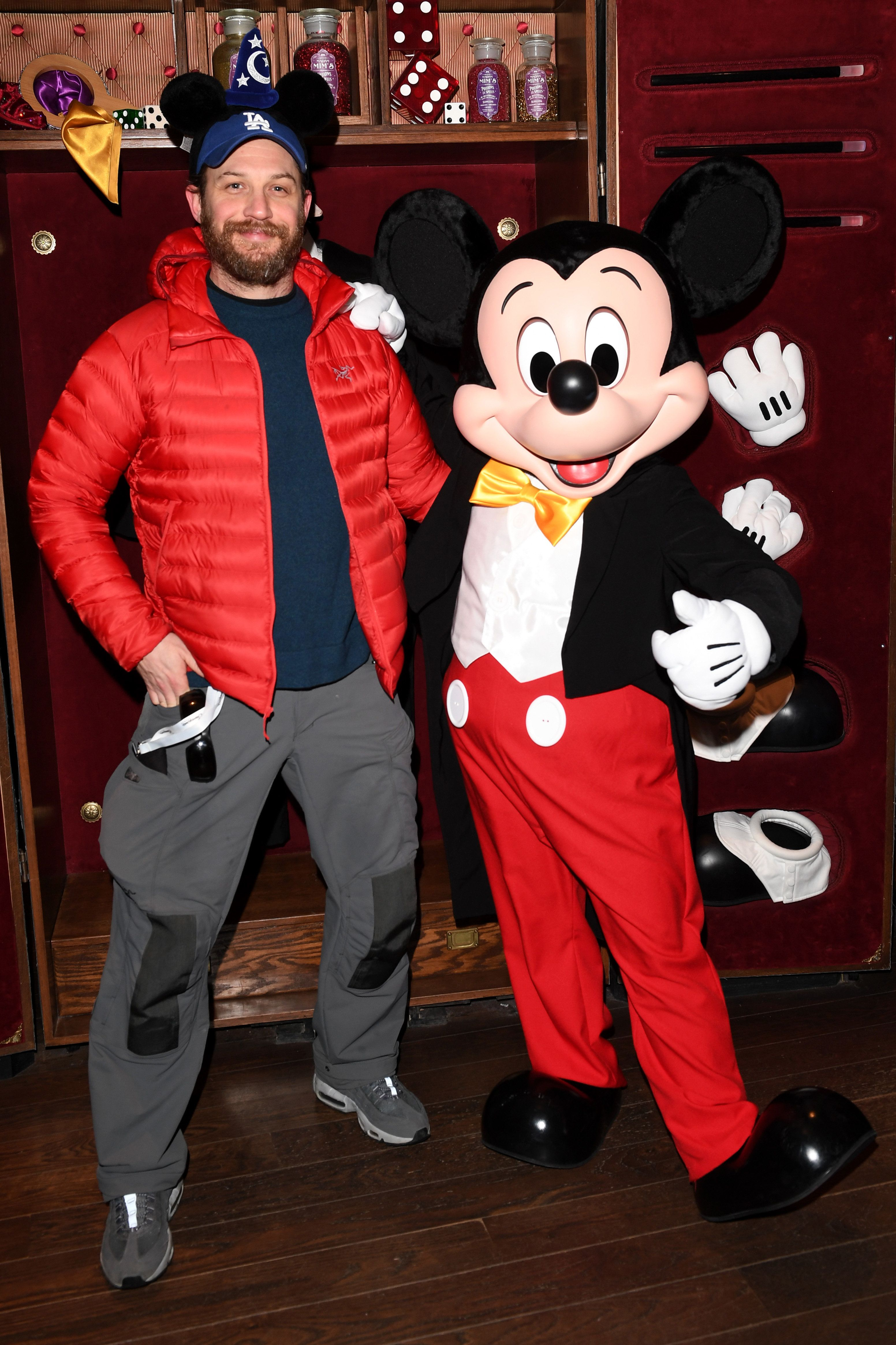 Tom Hardy (left) and Mickey Mouse (right, we