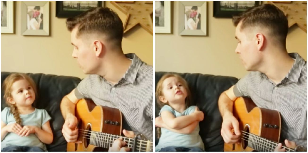 Four-Year-Old Girl Singing 'You've Got A Friend In Me' With Dad Has Won Hearts Across The
