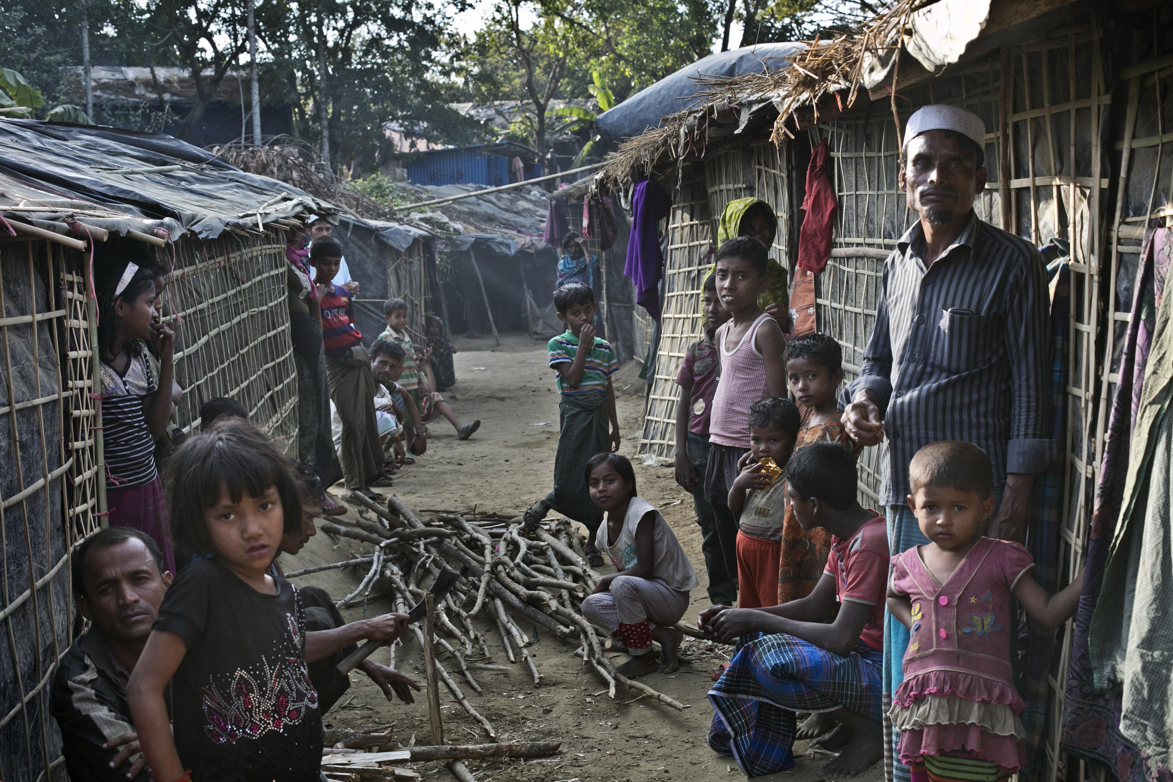 Rohingyas at a refugee camp in Bangladesh on Jan. 20, 2017.