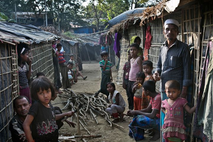 Rohingyas at a refugee camp in Bangladesh on Jan. 20, 2017.