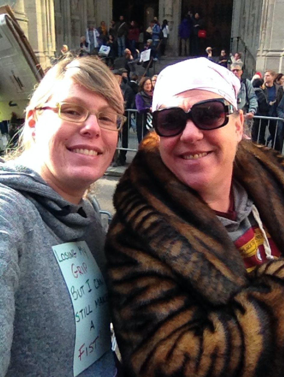 Hershfield and her mother at the Women's March in NYC.