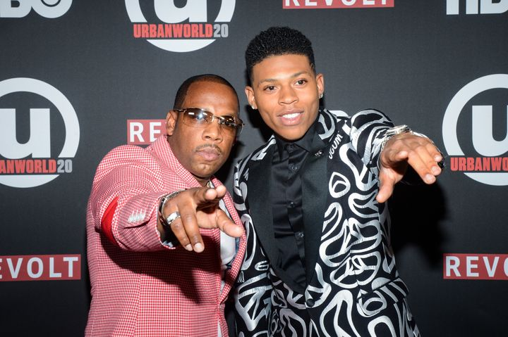 "Bryshere Y. Gray opens up on his portrayal as singer Michael Bivins (pictured above) BET's ""The New Edition Story."""