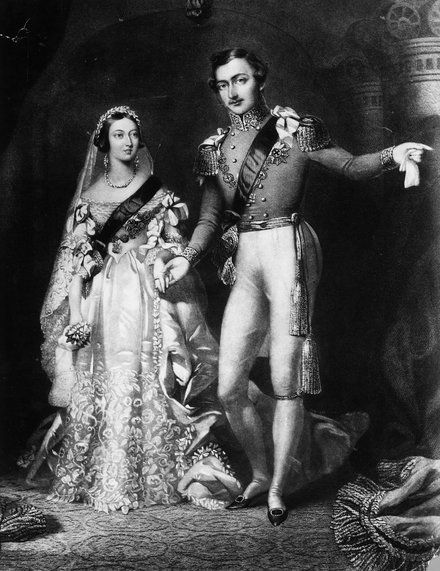 <p>Queen Victoria and Prince Albert after their wedding on February 10, 1840.</p>