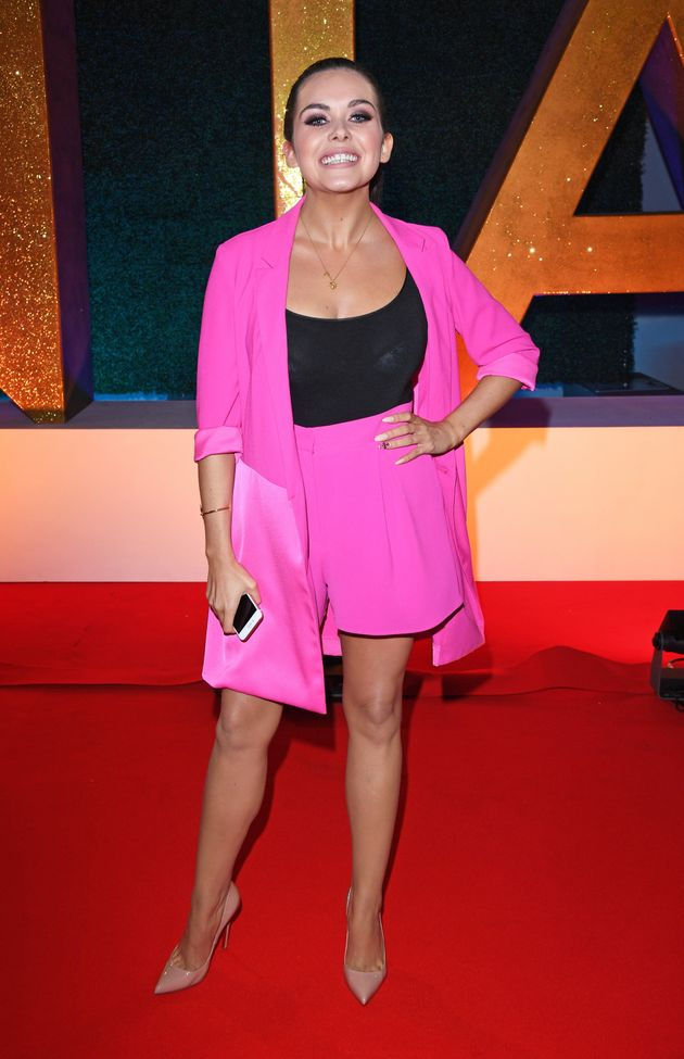 NTAs 2017: Scarlett Moffatt Wore A Hot Pink Short Suit After Last Minute Outfit