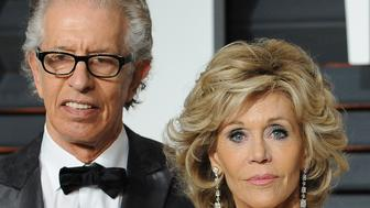 BEVERLY HILLS, CA - FEBRUARY 22:  Record producer Richard Perry (L) and actress Jane Fonda attend the 2015 Vanity Fair Oscar Party hosted by Graydon Carter at Wallis Annenberg Center for the Performing Arts on February 22, 2015 in Beverly Hills, California.  (Photo by Jon Kopaloff/FilmMagic)