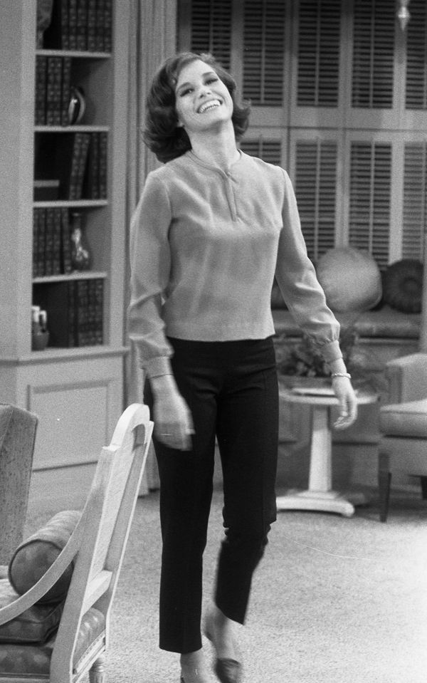 """Mary Tyler Moore in rehearsal for """"The Dick Van Dyke Show"""" in 1963."""