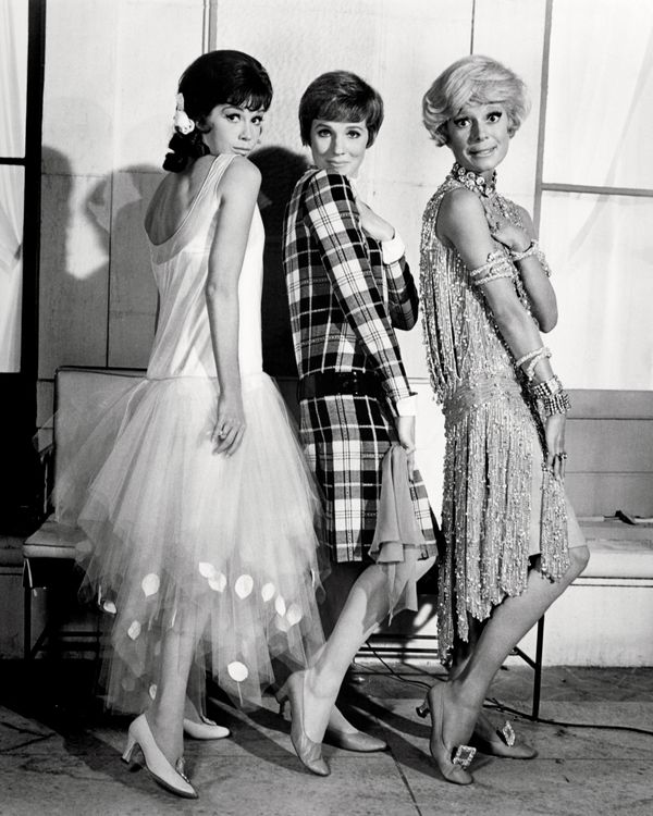 Mary Tyler Moore as Miss Dorothy Brown, Julie Andrews as Millie Dillmount, and Carol Channing in a promotional portrait for '