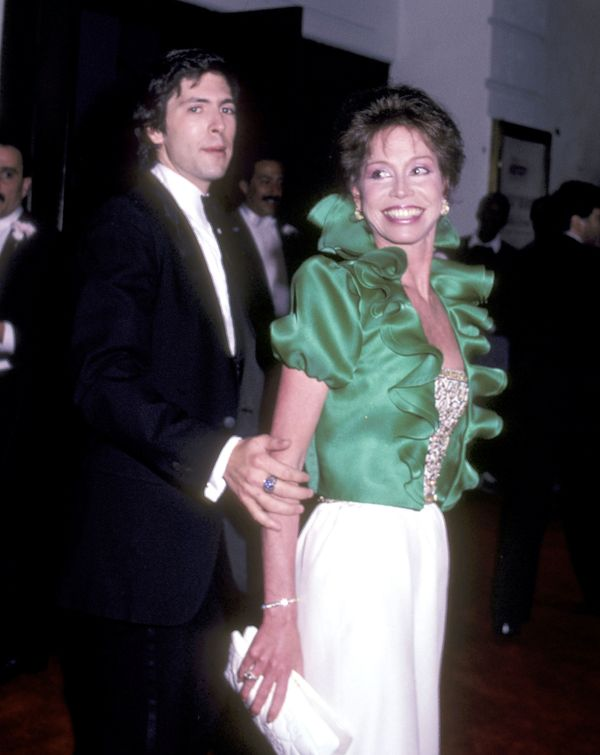 Mary Tyler Moore and boyfriend Dr. Robert Levine attend the 'Private Lives' Opening Night Performance on May 8, 1983 at the L
