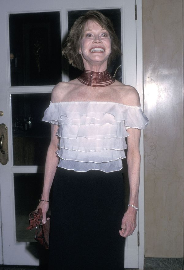 Mary Tyler Moore attends the Fifth Annual ASPCA Bergh Ball on April 25, 2002 at The Plaza Hotel in New York City.