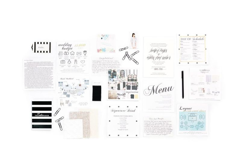 Each White Box includes a customized road map created specifically for each couple, to help them plan and execute their weddi