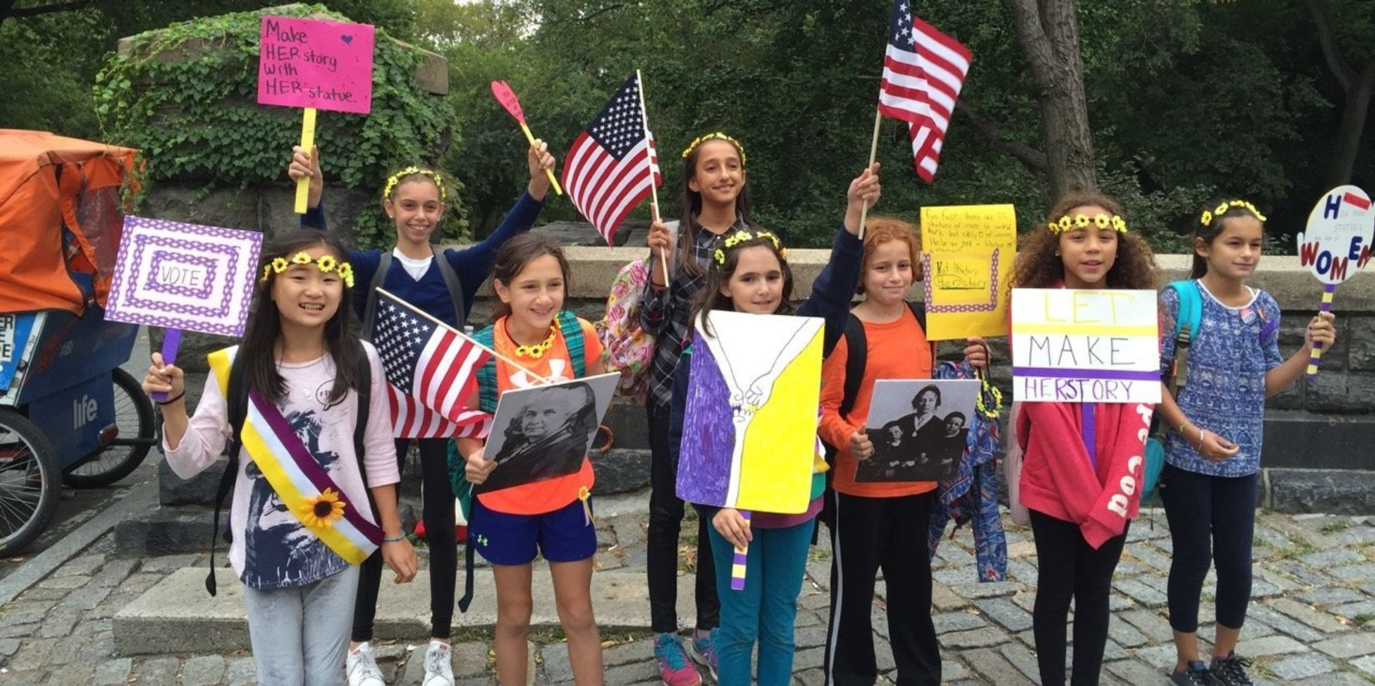 these girl scouts are fighting sexism in central park