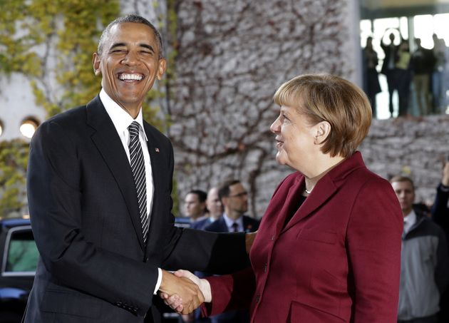 Barack Obama and Angela Merkel on his 'farewell' tour of