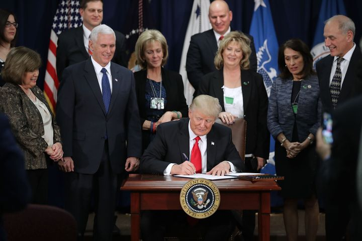 "President Donald Trump signed multiple executive orders on Wednesday, including one aimed at strong-arming ""sanctuary cities."