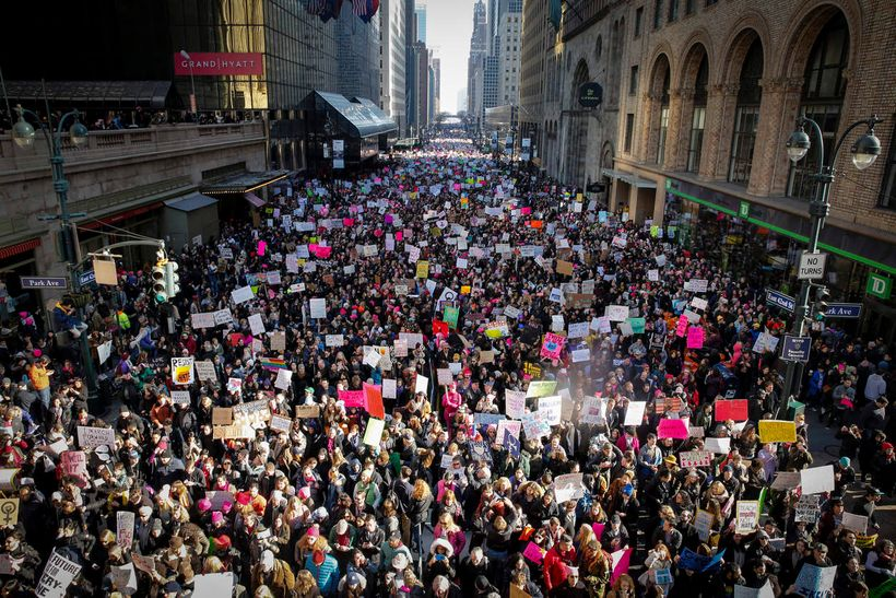 Number of protesters participating in the Women's March far exceed expectations in New York City and all over the world.