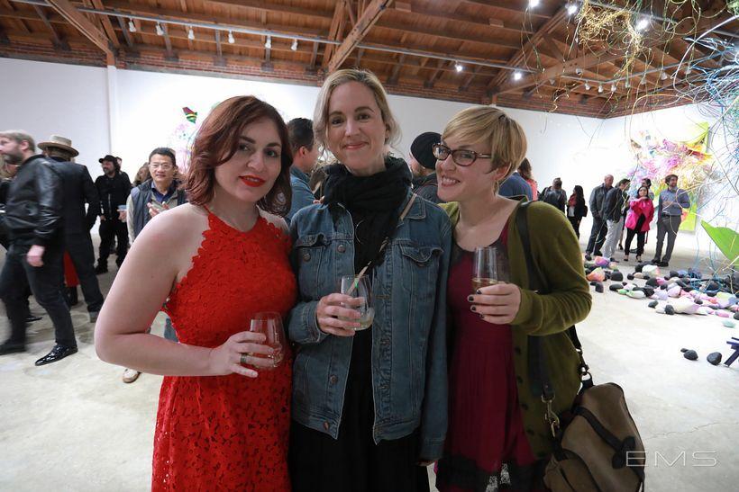 Joan Adams, Megan Mueller and Clare Little.