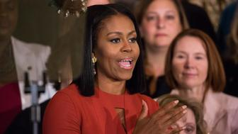 On Friday, January 6 in Washington D.C., USA , First Lady Michelle Obama delivered her final remarks as First Lady at the 2017 School Counselor of the Year event in the East Room of the White House. School Counselor of the Year is an annual White House tradition started in 2015 by Mrs. Obama. (Photo by Cheriss May/NurPhoto via Getty Images)