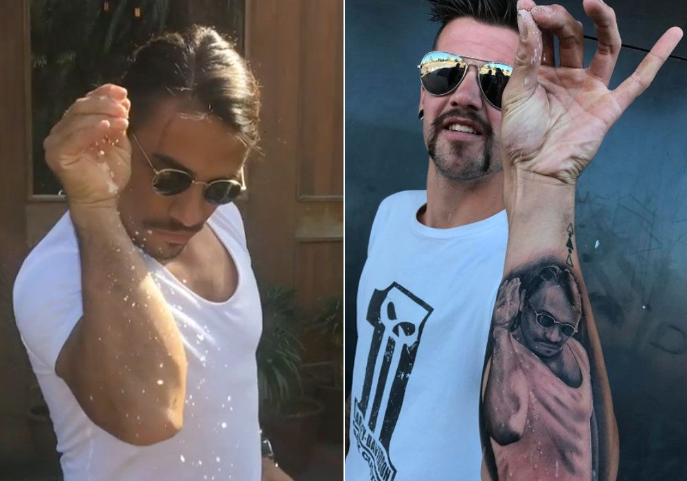 Saltbae's Biggest Fan Gets Permanent Tattoo Of Everyone's Favourite