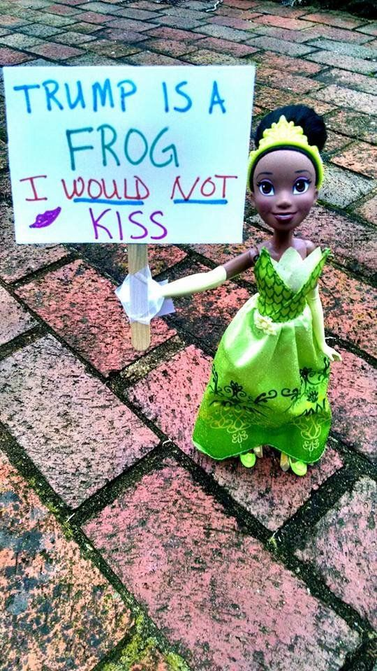 "Tiana from Disney's ""The Princess and the Frog"" with an on-brand message."