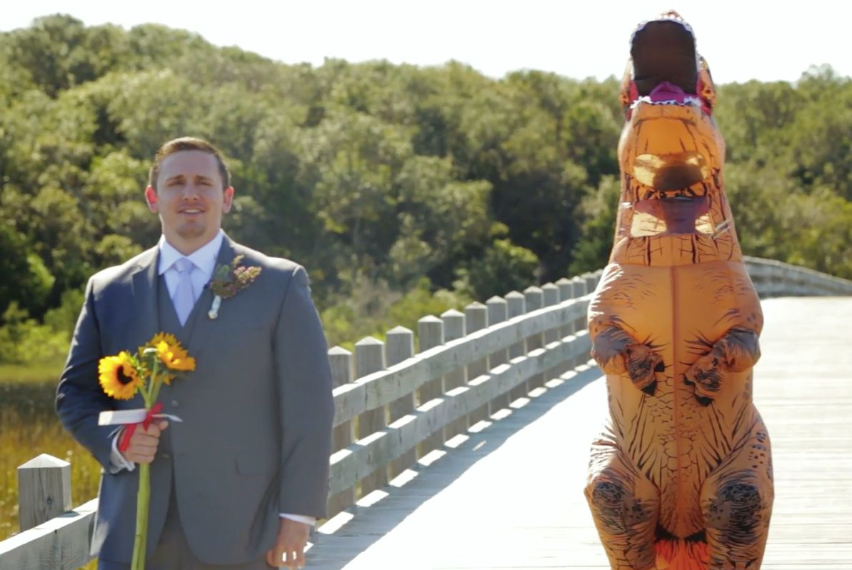Tom Gardner had no idea what his bride, Elizabeth Rex Hundley, would wear to their wedding.