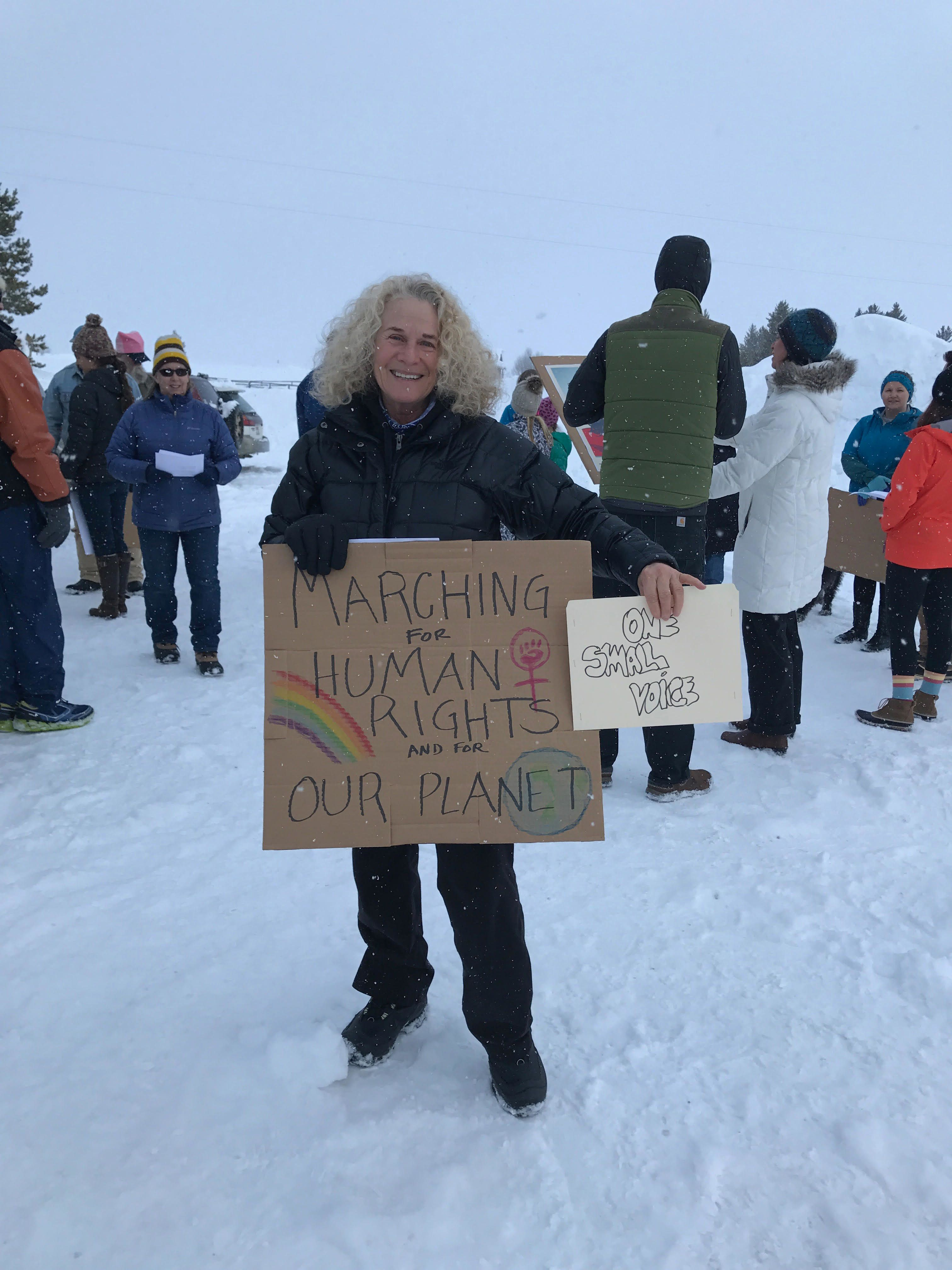 Carole King at the Stanley Idaho Womens March January 212017