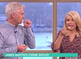 James Martin Is Not Impressed As Holly Willoughby Gags On His 'This Morning' Cooking