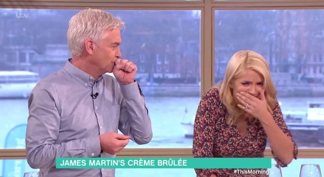 James Martin Is Not Impressed As Holly Willoughby Gags On His 'This Morning'