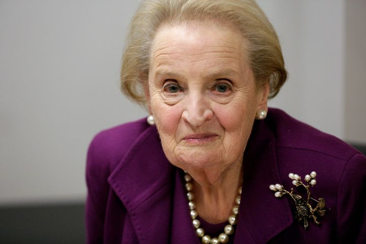 Madeleine Albright is an immigrant herself who fled violence in her birth nation.