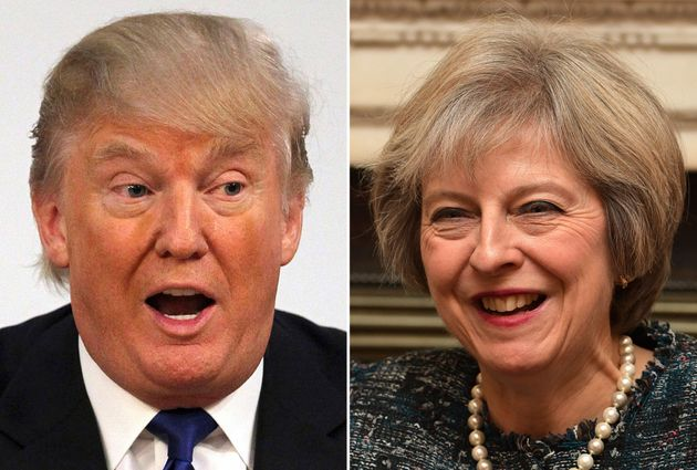 Donald Trump and Theresa May are due to meet on