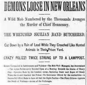 A famous headline from one of the largest individual lynchings in U.S. history. 300 Italian-Americans were rounded up. 11 wer