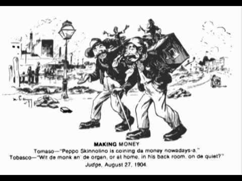 Another derogatory political cartoon deriding Italian-Americans on racial grounds.
