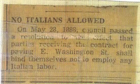 """No Italians Allowed."""