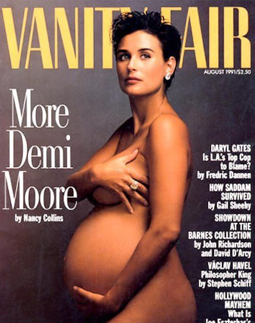 Natalie Portman Channels Demi Moore's Famous Pregnancy Photo For Vanity