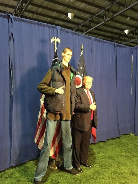 RobertBobroczky poses with Donald Trump during an October campaign rally at Spire Institute, the athlete training site