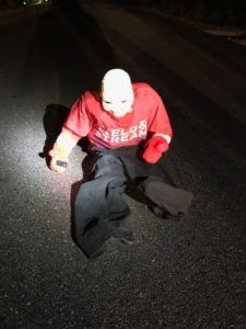 Authorities in North Carolina say this dummy was intentionally left in the middle of a road over the weekend, allegedly by th