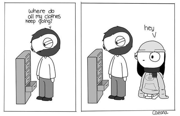 Girlfriend Turns Life With Her Boyfriend Into Ridiculously Cute Comics 588a584a1700002f001d09d7