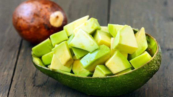While a thin slice of avocado almost melts on your tongue, diced pieces can have a texture similar to soft cheese, a welcome