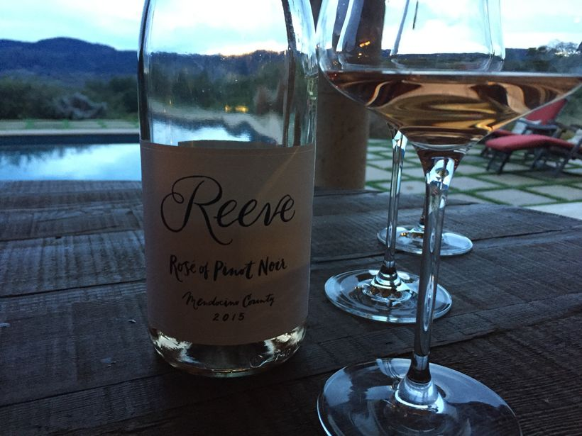 Epic sunset with Reeve's Rose of Pinot Noir