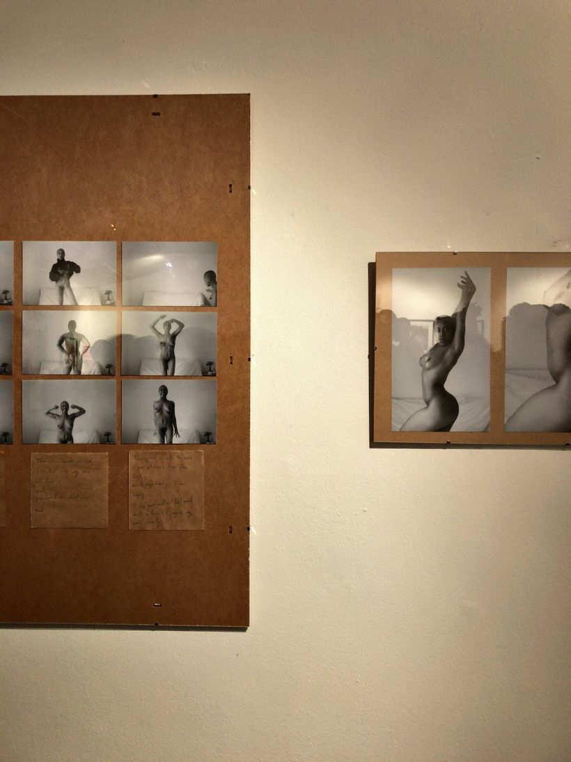 Photographer Helmi Okpara's piece <em>Entitled (A Series of Self Portraits)</em> portrays the artist's re-unification with he