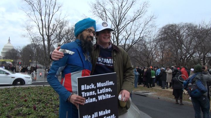 Singh expected to encounter animosity from Trump supporters entering the inauguration, but he was happily surprised.