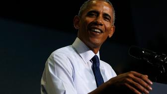 U.S. President Barack Obama delivers remarks at a Hillary for America campaign event at the University of North Florida in Jacksonville, Florida, U.S., November 3, 2016. REUTERS/Jonathan Ernst